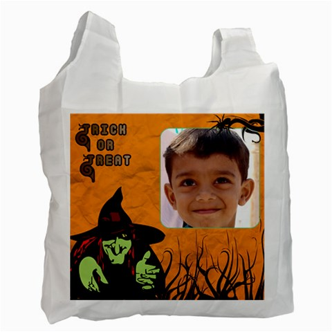 Trick Or Treat Bag 3 By Deborah   Recycle Bag (one Side)   Pq7lrm82fabj   Www Artscow Com Front