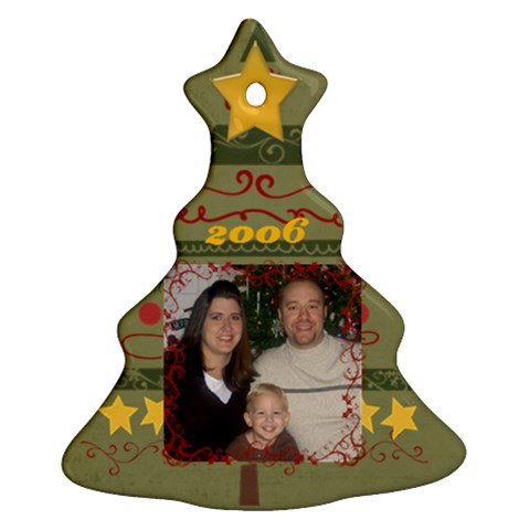 Family 2006 By Nicole Thompson   Ornament (christmas Tree)    G3ey5zhey2z8   Www Artscow Com Front