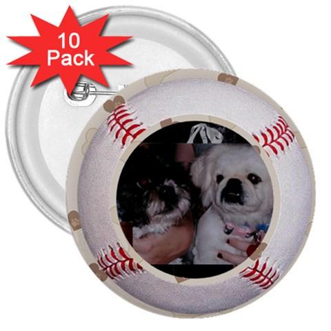 Dog But By Juliet Novak   3  Button (10 Pack)   Cyvp5xx03siq   Www Artscow Com Front