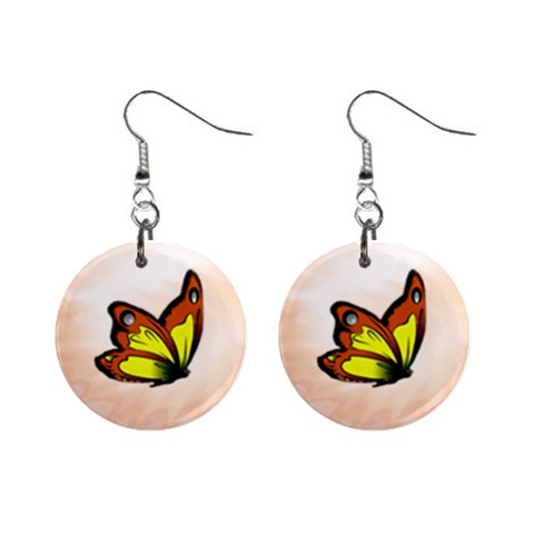 Butterfly Earrings By Maryanne   1  Button Earrings   Rdrjx1nlz2zr   Www Artscow Com Front