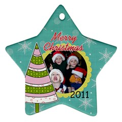 2011 Star Ornament 2 Sided 1 By Martha Meier   Star Ornament (two Sides)   3vdzmevq1nf9   Www Artscow Com Front