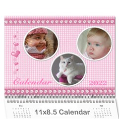 Happy Pink 2017 (any Year) Calendar By Deborah   Wall Calendar 11  X 8 5  (12 Months)   S1efi8lmxwlc   Www Artscow Com Cover