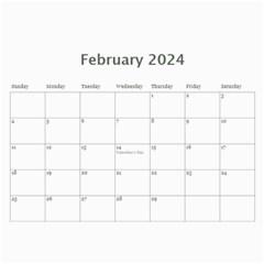 Happy Pink 2017 (any Year) Calendar By Deborah   Wall Calendar 11  X 8 5  (12 Months)   S1efi8lmxwlc   Www Artscow Com Feb 2017