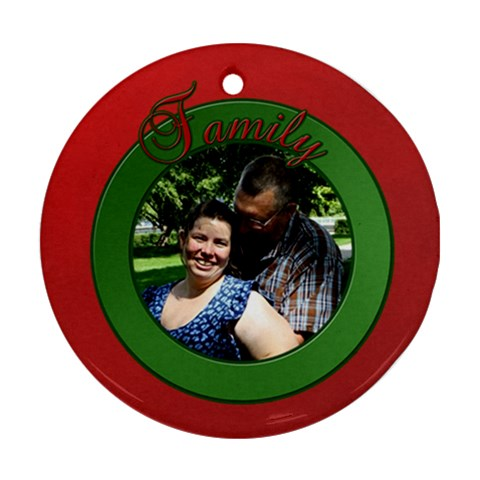 Family Christmas Ornament By Patricia W   Ornament (round)   4s3lejvengyd   Www Artscow Com Front