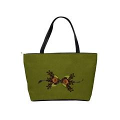 Shoulder Handbag: Green Memories By Jennyl   Classic Shoulder Handbag   4ma7y4yt2iw5   Www Artscow Com Back