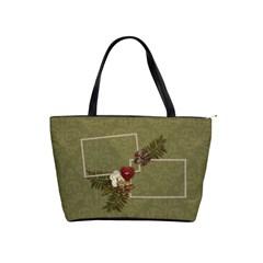 Shoulder Handbag: Christmas2 By Jennyl   Classic Shoulder Handbag   6o4ip4ni2c2l   Www Artscow Com Front