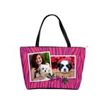 Hot pink & purple zebra-Classic Shoulder Handbag