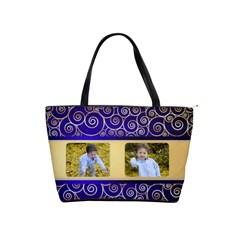 Regal Blue Shoulder Bag By Deborah   Classic Shoulder Handbag   Kjhztz24t73q   Www Artscow Com Front