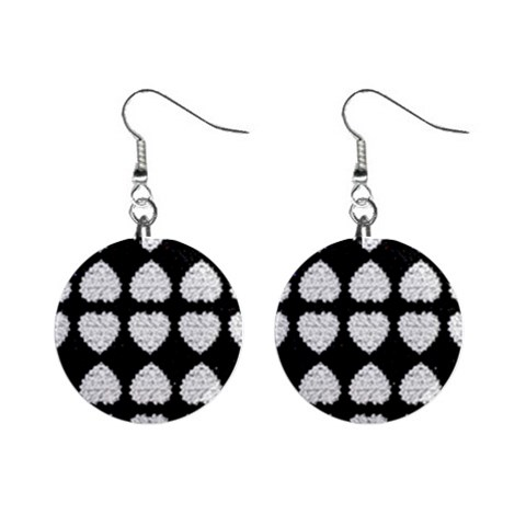 Diamond Heart Earrings By Kim Blair   1  Button Earrings   J7z3beit5psz   Www Artscow Com Front
