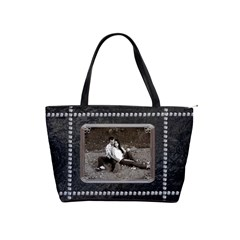 Black Diamond Classic Shoulder Handbag By Lil    Classic Shoulder Handbag   Mh56mtxbwqvg   Www Artscow Com Front