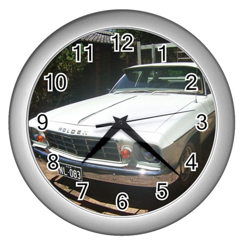 By Gillian Lewis   Wall Clock (silver)   9wp5up3i8f1m   Www Artscow Com Front