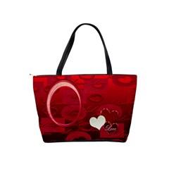 Love Red Classic Shoulder Bag By Ellan   Classic Shoulder Handbag   W5eponn3szeo   Www Artscow Com Back