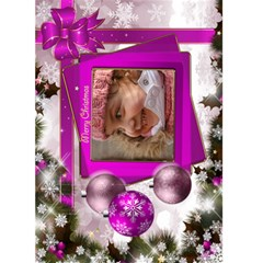 Christmas Greeting 5x7 Card (pink) By Deborah   Greeting Card 5  X 7    Obpimbqanziv   Www Artscow Com Front Cover