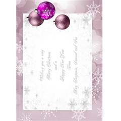 Christmas Greeting 5x7 Card (pink) By Deborah   Greeting Card 5  X 7    Obpimbqanziv   Www Artscow Com Back Inside