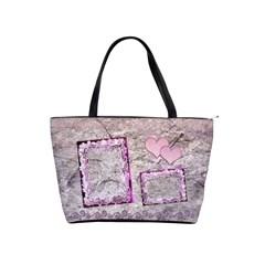 Spring Pink Frill Heart Classic Shoulder Bag By Ellan   Classic Shoulder Handbag   Fywl25696zs9   Www Artscow Com Front