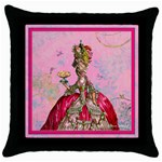 marie w peacock hummers for pillow artsnow Throw Pillow Case (Black)