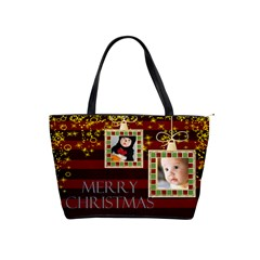Merry Christmas By Joely   Classic Shoulder Handbag   Rcdr7ykjjkar   Www Artscow Com Front