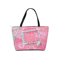 Spring Pink Heart Love Classic Shoulder Bag By Ellan   Classic Shoulder Handbag   3y30qjchalpl   Www Artscow Com Back