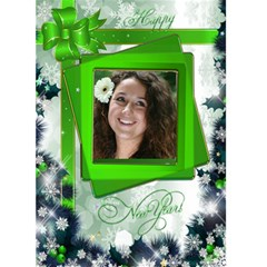 Happy New Year Greeting 5x7 Card (green) By Deborah   Greeting Card 5  X 7    Iqpmnplwrwm3   Www Artscow Com Front Cover