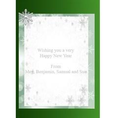 Happy New Year Greeting 5x7 Card (green) By Deborah   Greeting Card 5  X 7    Iqpmnplwrwm3   Www Artscow Com Back Inside