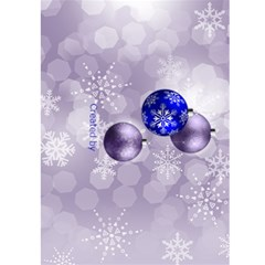 Christmas Greeting 5x7 Card (blue) By Deborah   Greeting Card 5  X 7    0tl0gz0f3smk   Www Artscow Com Back Cover