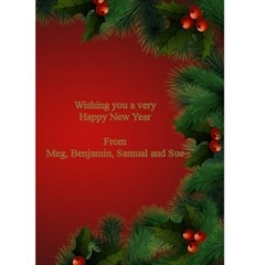 Happy New Year Greeting 5x7 Card (red) By Deborah   Greeting Card 5  X 7    T4d2yjc2t6ur   Www Artscow Com Back Inside