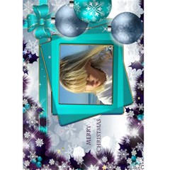 Christmas Greeting 5x7 Card (teal) By Deborah   Greeting Card 5  X 7    M5ipc1uffn9d   Www Artscow Com Front Cover