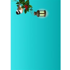 Christmas Greeting 5x7 Card (teal) By Deborah   Greeting Card 5  X 7    M5ipc1uffn9d   Www Artscow Com Front Inside