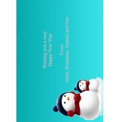 Happy New Year Greeting 5x7 Card (teal) By Deborah   Greeting Card 5  X 7    N6jvp8bm4gy3   Www Artscow Com Back Inside