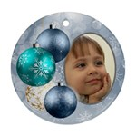 Shades of Pale blue Christmas Round Ornament - Ornament (Round)