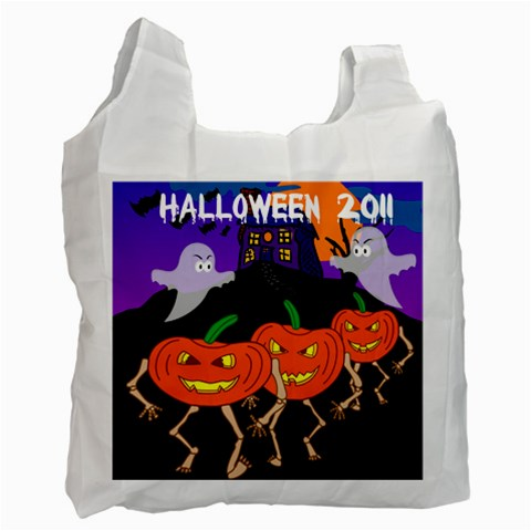 Trick Or Treat Bag By Maryanne   Recycle Bag (one Side)   23qwhqa0mrh7   Www Artscow Com Front