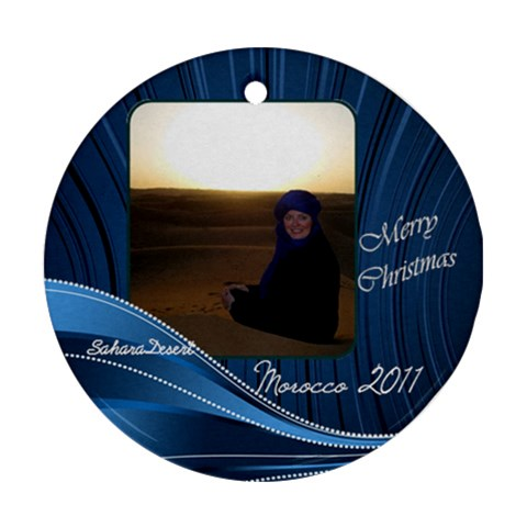 Morocco Ornament By Allyson Mcginnis   Ornament (round)   Yzybpvol1ar5   Www Artscow Com Front