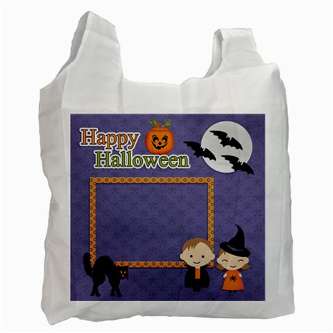 Recycle Bag (one Side): Halloween9 By Jennyl   Recycle Bag (one Side)   Mlal9f7klorm   Www Artscow Com Front