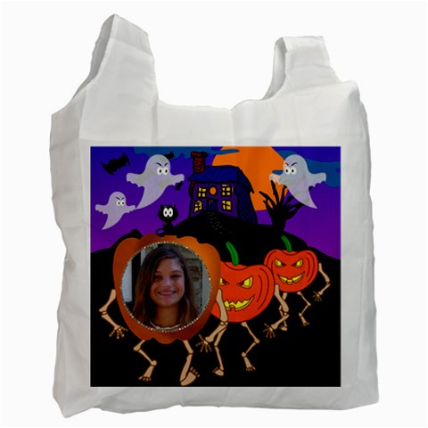 Halloween Bag 5 By Kim Blair   Recycle Bag (one Side)   2ifie5eia57y   Www Artscow Com Front