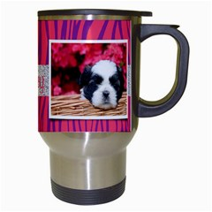 Zebra & Glitter, Travel Mug By Mikki   Travel Mug (white)   7wtzoc7t1u3e   Www Artscow Com Right