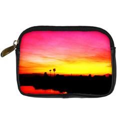 Pink Sunset Compact Camera Case by tammystotesandtreasures