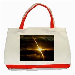 Rainbows And Sunsets 031 Red Tote Bag by tammystotesandtreasures