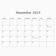 Calendar: Back To School (any Year) By Jennyl   Wall Calendar 11  X 8 5  (12 Months)   Rimrk82719am   Www Artscow Com Nov 2017