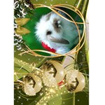 Olive Christmas Seasons Greeting Card  5x7 - Greeting Card 5  x 7
