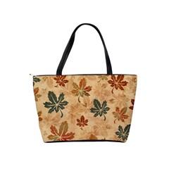 Faded Autumn Leaves Shoulder Bag By Bags n Brellas   Classic Shoulder Handbag   Dq5qs7mbzqlm   Www Artscow Com Back