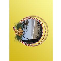 Christmas Greeting 5x7 Card (yellow) By Deborah   Greeting Card 5  X 7    Sfcdoga5f8y4   Www Artscow Com Front Inside