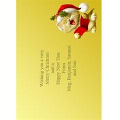 Christmas Greeting 5x7 Card (yellow) By Deborah   Greeting Card 5  X 7    Sfcdoga5f8y4   Www Artscow Com Back Inside