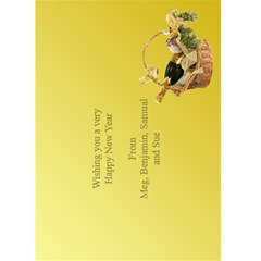 New Year Greeting 5x7 Card (yellow) By Deborah   Greeting Card 5  X 7    Leaqeo9xrl91   Www Artscow Com Back Inside