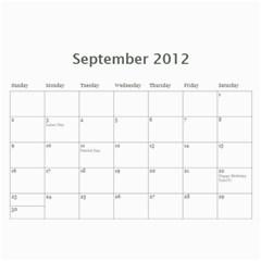 2012 Calendar Friends By Rose   Wall Calendar 11  X 8 5  (12 Months)   0pqfr70frq3f   Www Artscow Com Sep 2012