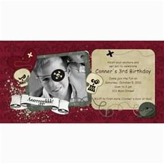 Pirate Birthday Party 4x8 Photo Cards By Mikki   4  X 8  Photo Cards   Kuxsf239jsdq   Www Artscow Com 8 x4 Photo Card - 3