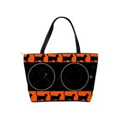 Black Cat Shoulder Bag By Kim Blair   Classic Shoulder Handbag   Kvrdapl9ipp4   Www Artscow Com Back