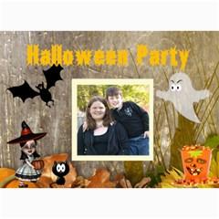 Halloween Party Invitation 2 By Kim Blair   5  X 7  Photo Cards   Ch9m33f39fg2   Www Artscow Com 7 x5 Photo Card - 6