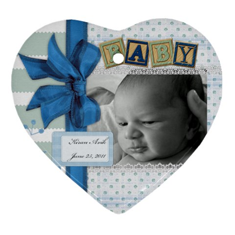 Baby ornament by Kaitlin Front