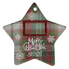 Santa Remember When 2011 2 Side Ornament 23 By Ellan   Star Ornament (two Sides)   2v7mcmyc680b   Www Artscow Com Back