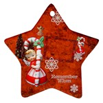 Angel Blonde Remember when 2011 2 SIDE star ornament - Star Ornament (Two Sides)